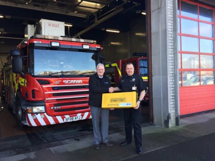 A road safety kit has been donated to the Scottish Fire and Rescue Service to assist local young people.