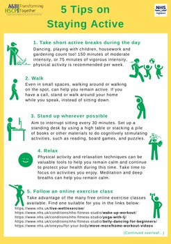 Top five tips for staying active from Argyll and Bute Health and Social Care Partnership