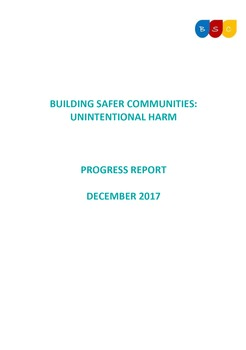 Building Safer Communities - Unintentional Harm - Progress Report - December 2017