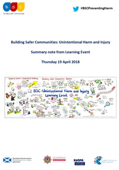 Building Safer Communities Unintentional Harm and Injury - Learning Event - Summary Note April 2018