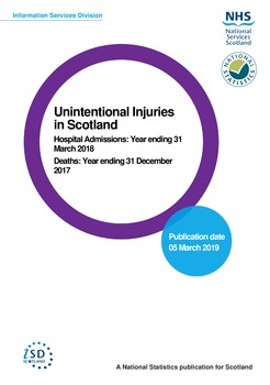 NHS National Services Scotland National Statistics on Unintentional Injuries March 2019