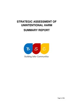 Strategic Assessment of Unintentional Harm - Summary Report April 2017