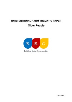 Unintentional Harm Thematic Paper - Older People April 2017